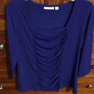 Susan Graver royal blue top